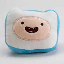 Cojín de peluche Finn Adventure Time, Pequeño, Azul y blanco