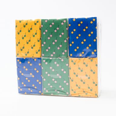 Paquete de pañuelos desechables 18 paquetes, Grande, Multicolor