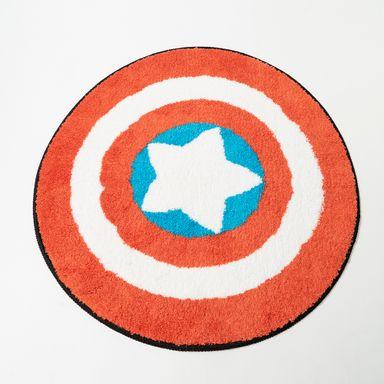 Tapete redondo Capitán América Marvel, Grande, Azul