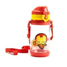 Botilito Plastico520 ml Iron Man Marvel, Grande, Rojo