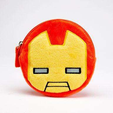 Monedero de peluche Iron Man, Pequeño, Rojo y Amarillo