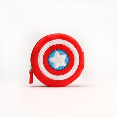 Monedero de peluche Escudo Capitán América Marvel, Pequeño, Multicolor