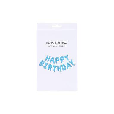 """Letrero de fiesta Happy Birthday"""", Mediano, Azul"""""""