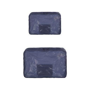 Organizador de viaje para ropa 2 piezas, Mediano, Azul Oscuro