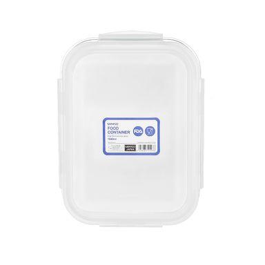 Refractaria de vidrio rectangular 1040 ml, Grande, Transparente