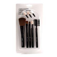 Set de 5 brochas de maquillaje en polvo, Pequeño, Negro
