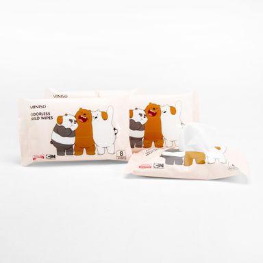 Toallas húmedas x10 Paquetes de 8 piezas We Bare Bears, Mediana, Rosado