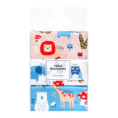 Paquete de pañuelos desechables x3 paquetes 120 piezas, Mediano, Multicolor