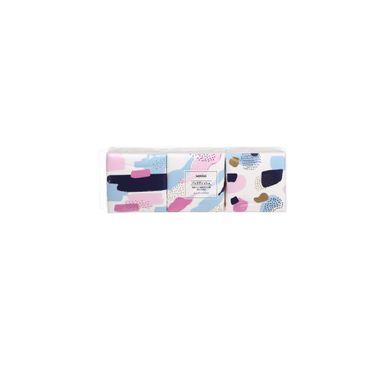 Paquete de pañuelos desechables x3 paquetes 60 piezas, Mediano, Multicolor
