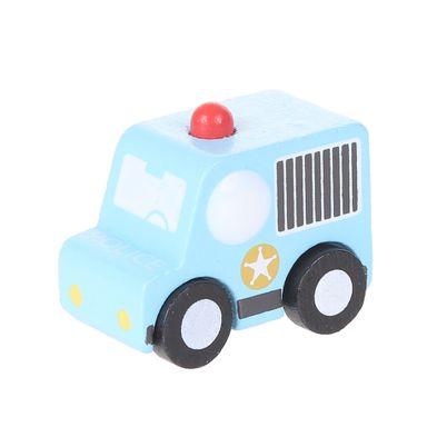 Juguete de madera Ambulancia, Mediano, Azul