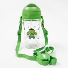 Botilito Plastico400 ml Hulk Marvel, Mediano, Verde