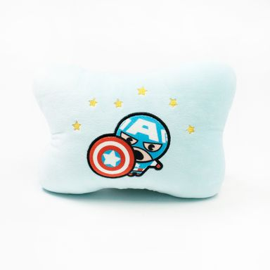 Almohada de peluche forma de hueso Capitán América Marvel, Mediana, Azul