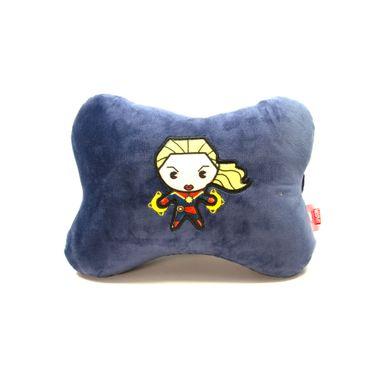 Almohada de peluche forma de hueso Capitana Marvel, Mediana, Azul oscuro