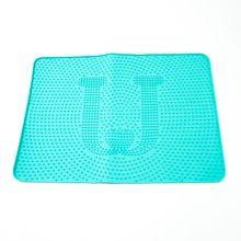 Tapete de silicona anti fluidos, Grande, Azul