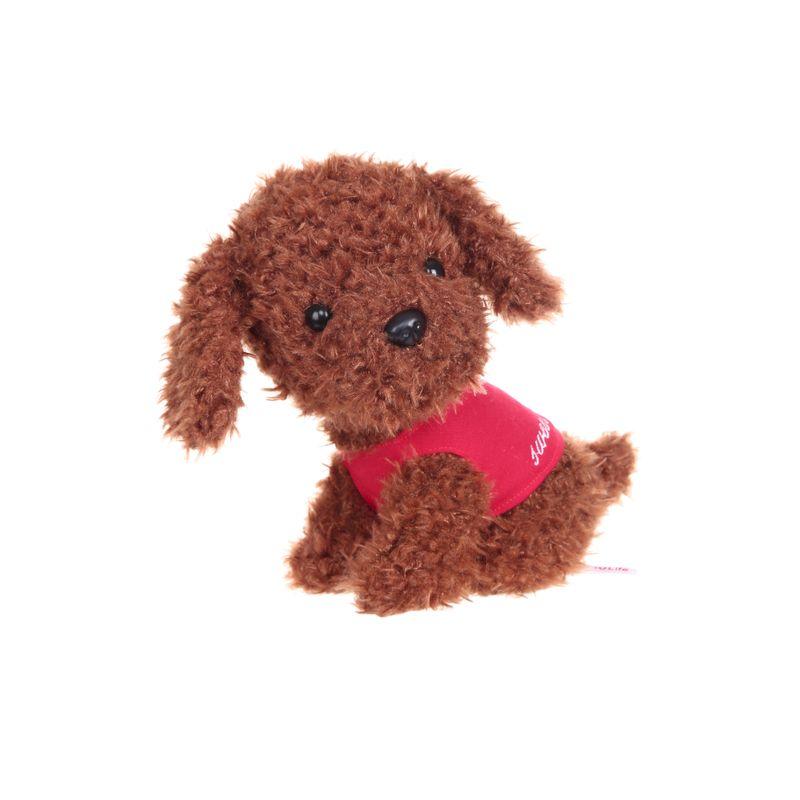 Peluche-de-Perro-Teddy-sentado-con-camiseta-Mediano-Caf-1-327