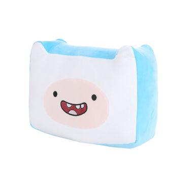 Cojín de peluche BMO Adventure Time, Pequeño, Azul y blanco