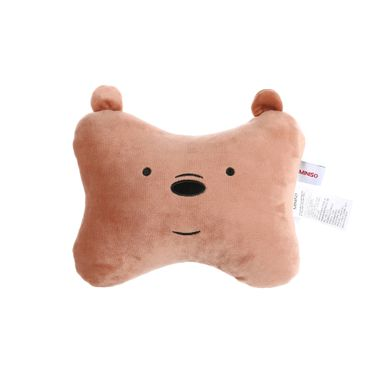 Almohada de peluche forma de hueso Grizzly We Bare Bears, Mediana, Café