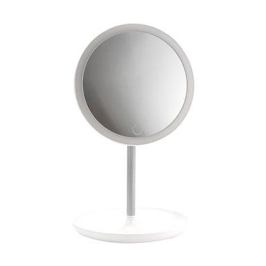Espejo circular ajustable con luz, Mediano, Blanco