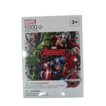 Rompecabezas 3 diseños 1000 piezas Marvel, Grande,  Azul