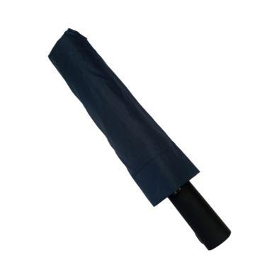Paraguas plegable con cierre automático, Mediano, Azul Oscuro