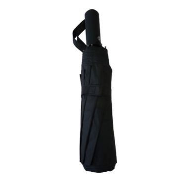 Paraguas plegable con cierre automático, Mediano, Negro