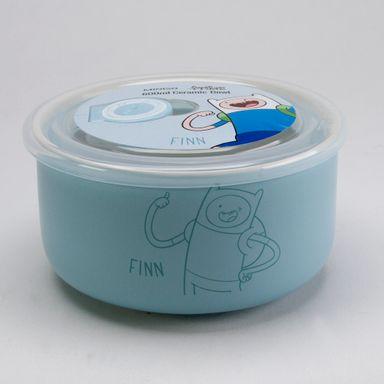 Contenedor De Ceramica, Finn 600 Ml Hora de Aventura, Pequeño, Azul