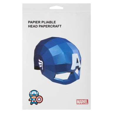 Anitfaz De Papel, Capitan America, Marvel, Pequeño, Azul