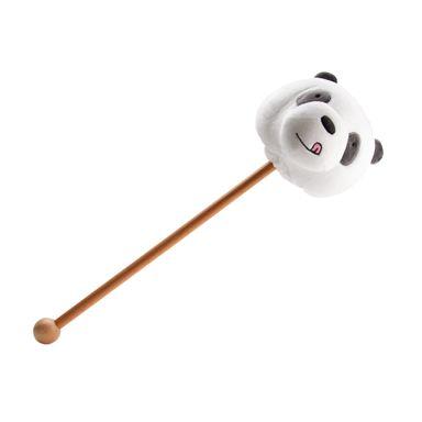 Masajeador Tipo Martillo Cabeza Panda, Osos Escandaloso, Mediano, Negro
