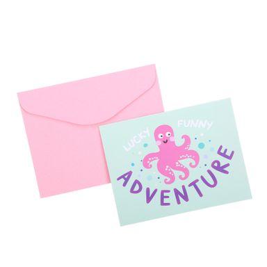 "Tarjeta De Felicitacion, Infantil ""Adventure"" 5Pzas, Pequeña"