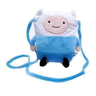 Bolso Para Celular De Finn, Hora de Aventura, Pequeño, Azul-Blanco