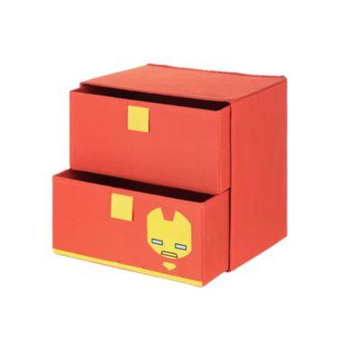 Caja organizadora almacenamiento Iron Man Marvel, Mediana, Naranja