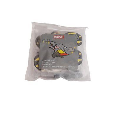 Toalla facial comprimida x10 piezas Marvel, Pequeña , Thor