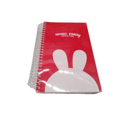 Cuaderno de espiral Nono Panda, Mediano, Rojo