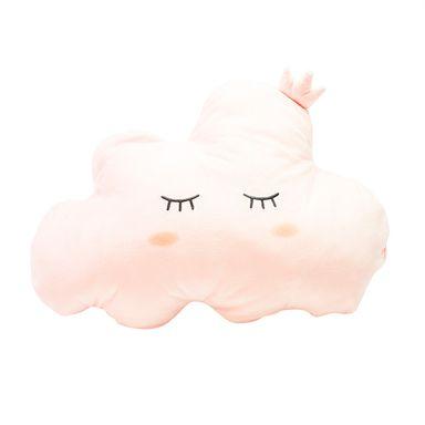 Almohada de peluche forma de nube, Mediana, Rosado Pastel