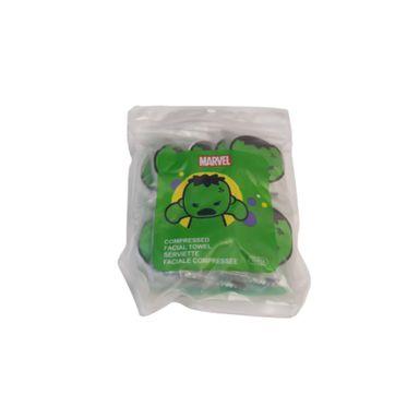 Toalla facial comprimida x10 piezas Marvel, Pequeña , Hulk