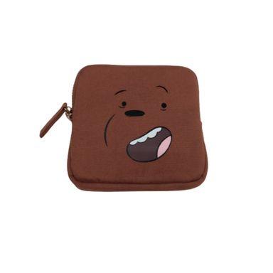 Monedero cuadrado We Bare Bears, Pequeño, Pardo