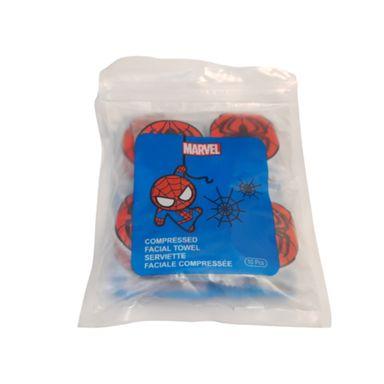 Toalla facial comprimida x10 piezas Marvel, Pequeña , Spiderman