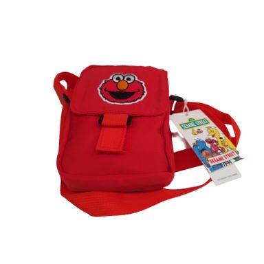 Bolso Cruzado Rectangular, Sesame Street, Mediano, Rojo