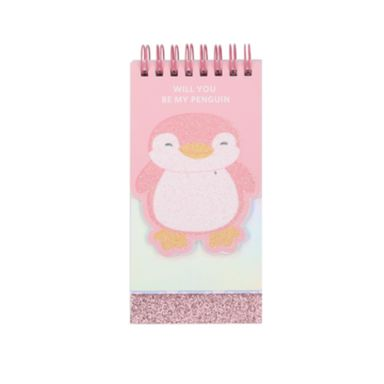 Cuaderno de espiral Pingüinos, Mediano, Rosa