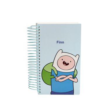 Agenda planificadora argollado 80 hojas Adventure Time, Grande, Azul