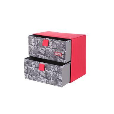 Caja de almacenamiento dos cajones Marvel, Grande, Marvel Rojo