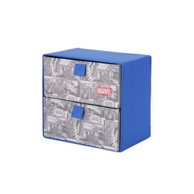 Caja de almacenamiento dos cajones Marvel, Grande, Marvel Azul
