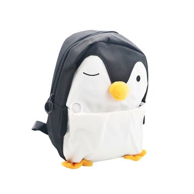 Morral Infantil Pinguino, Mediano, Negro