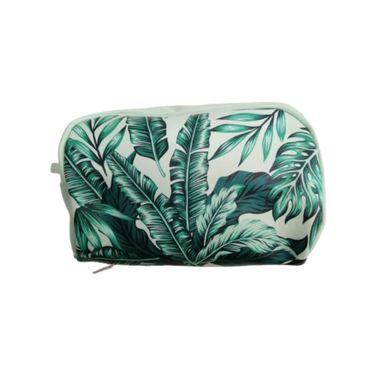 Cosmetiquera Estampado Tropical, Mediana, Verde