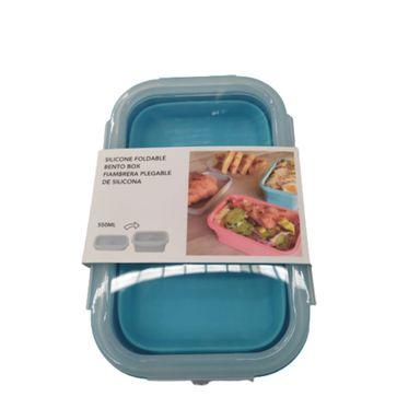 Contenedor Plegable, De Silicona 550 Ml, Mediano, Azul