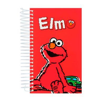 Cuaderno Con Espiral 160 Hojas, Sesame Street, Rojo