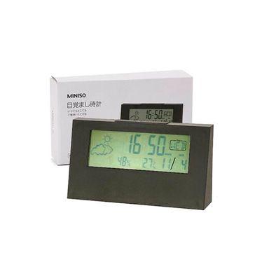 Reloj Despertador Digital, Mediano, Negro