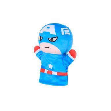 Títere de peluche medio cuerpo Capitán América Marvel, Mediano, Multicolor