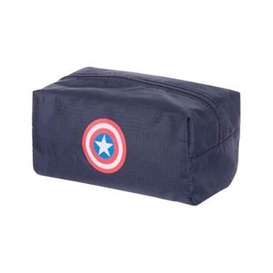 Cosmetiquera Escudo Capitán América Marvel, Mediana, Azul oscuro
