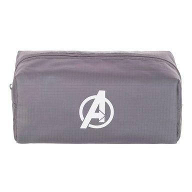 Cosmetiquera rectangular logo Avengers, Mediana, Gris